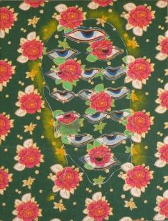 Mind - Acrylic on textile, 65 x 50 cm Sri Lanka, 2010