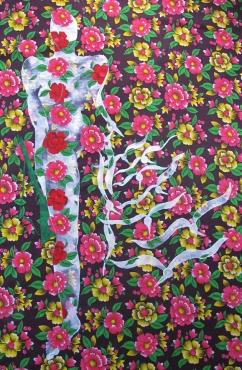 Freedom of spirit - Acrylic on fabric, 152 x 107 cm Nepal, 2007